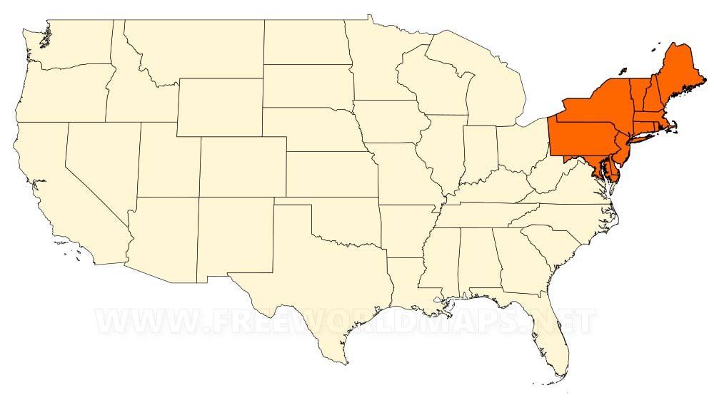 Northeastern US maps