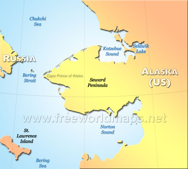 Seward Peninsula maps