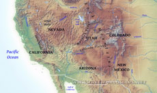 Free Printable Maps Of The Southwestern US - Map of south western us