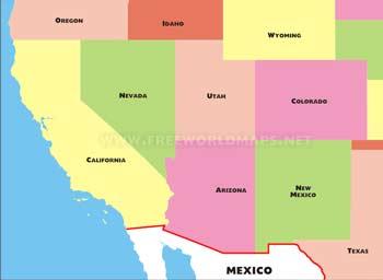 Southwestern US maps