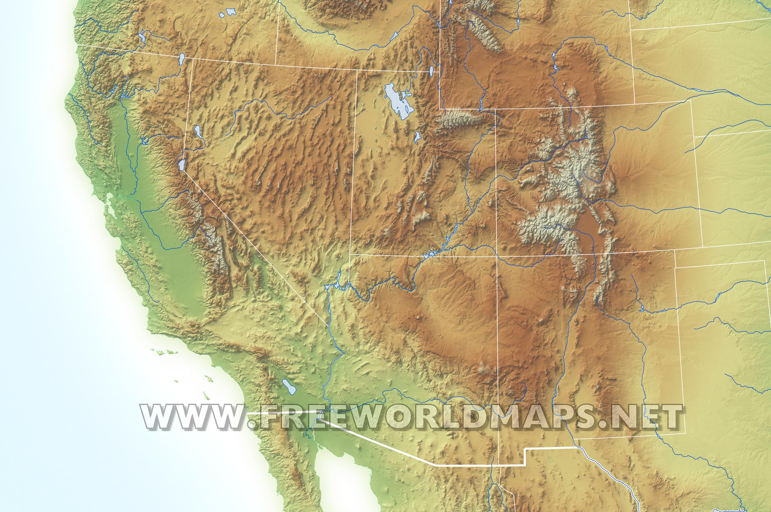 Southwestern US Political Map By Freeworldmapsnet - Us southwest map