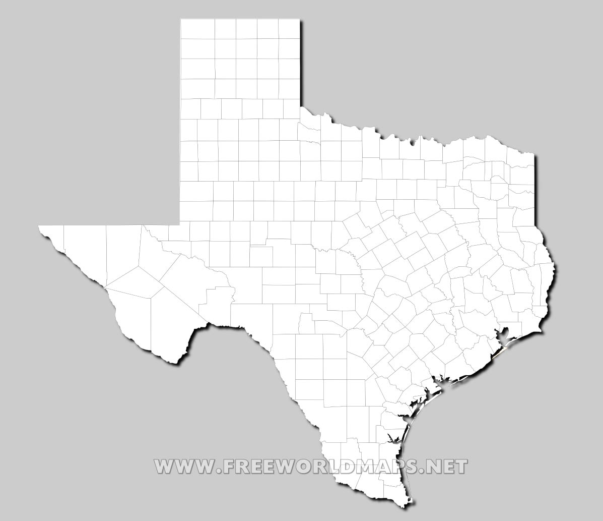 Texas Outline Map With Rivers  Viewing Gallery