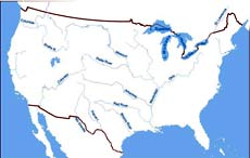 US Mountain Ranges Map - Us map mountains and rivers