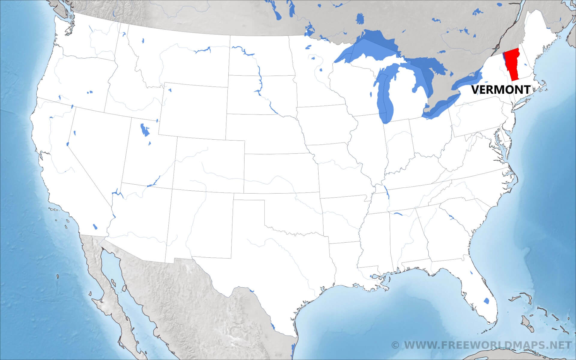 Where Is Vermont Located On The Map - Map vermont