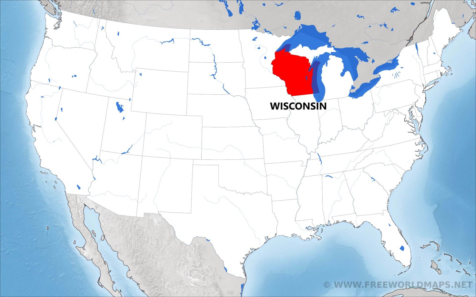 Where Is Wisconsin Located On The Map - Where is wisconsin