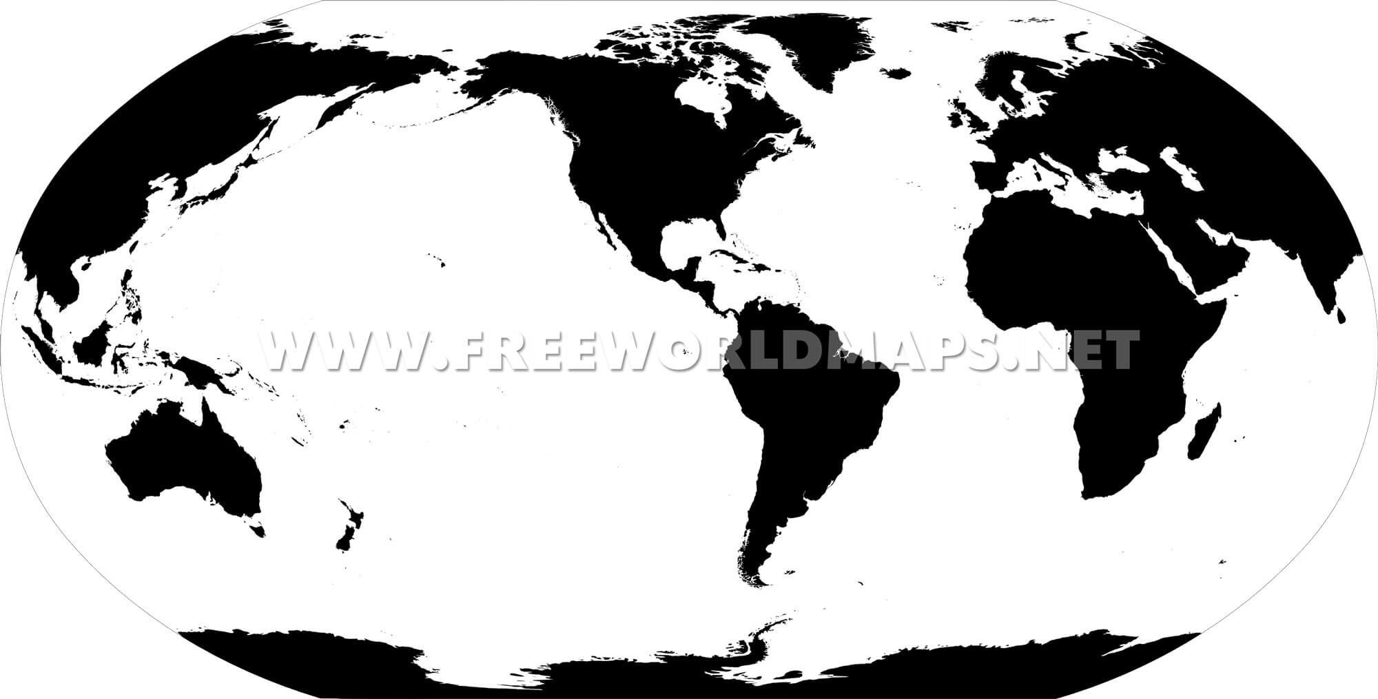 America Centric World map – Map World Black