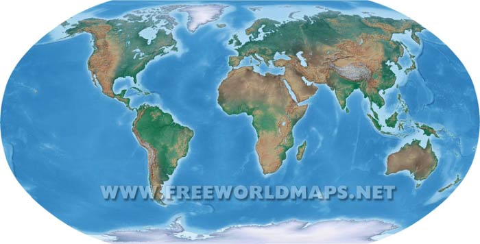 Geographical world map
