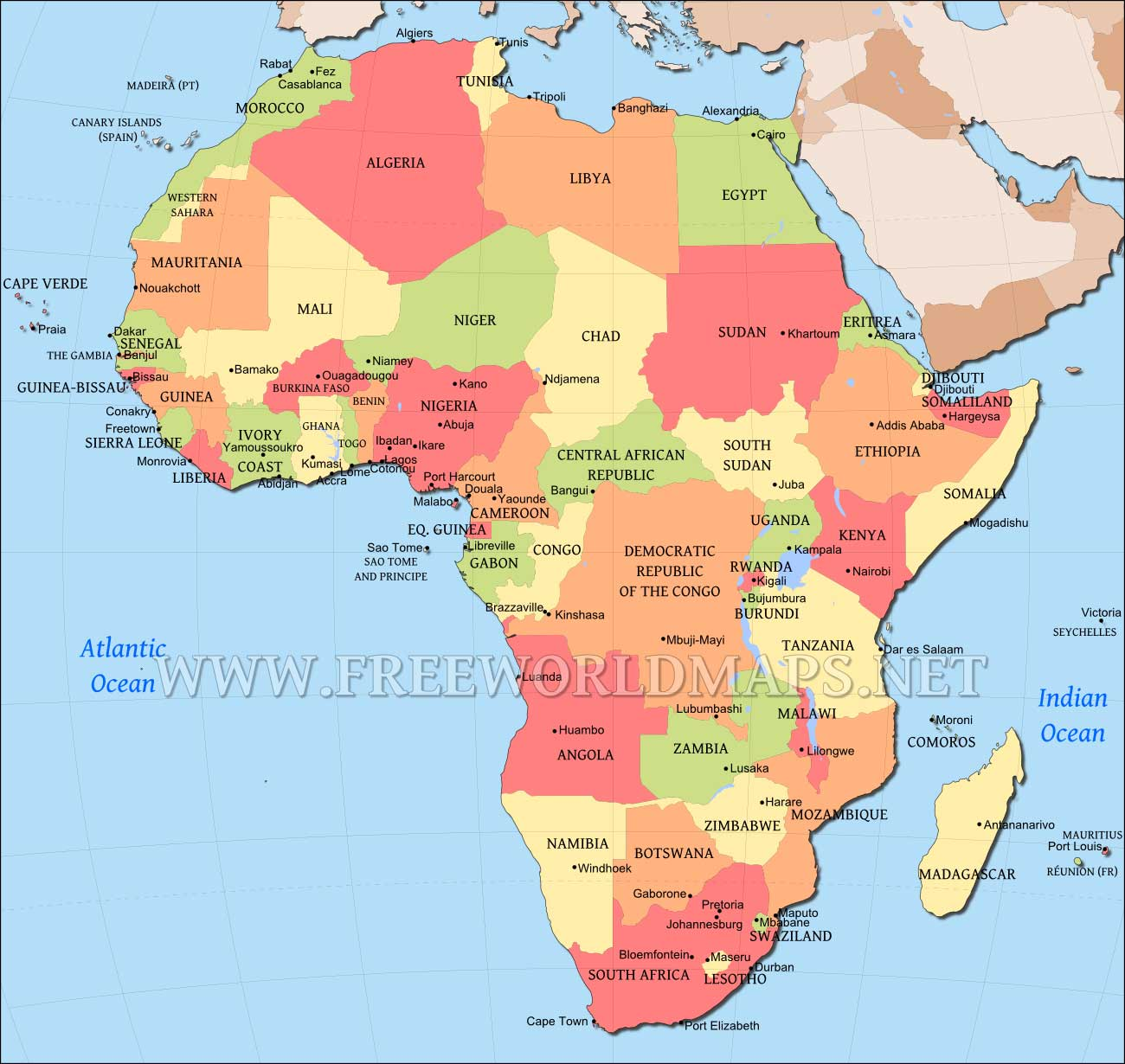 Map Of Africa Images.Africa Map Editable