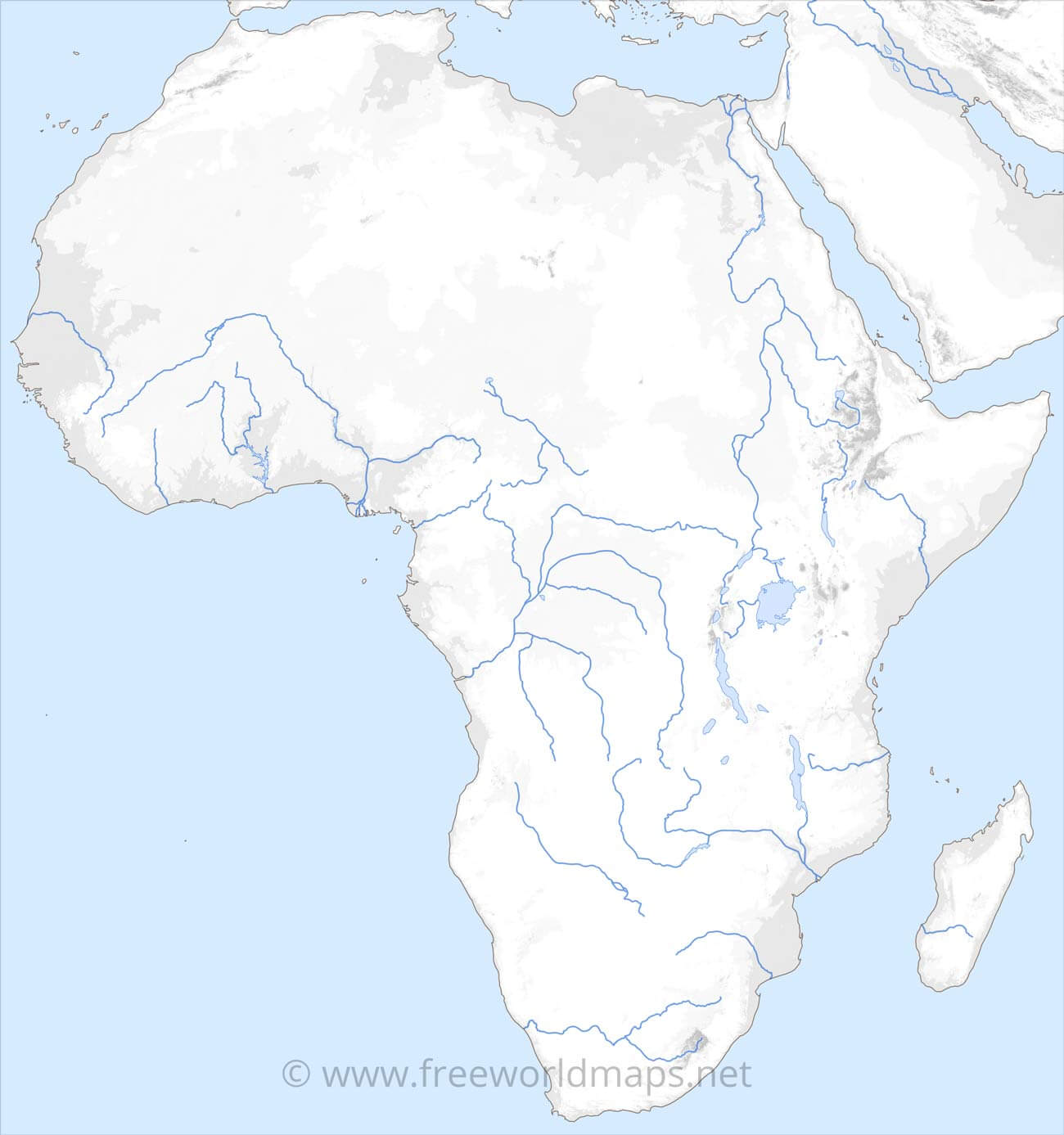 Rivers In Africa Map Rivers of Africa