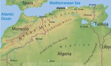 Where is Algeria located on the World map?