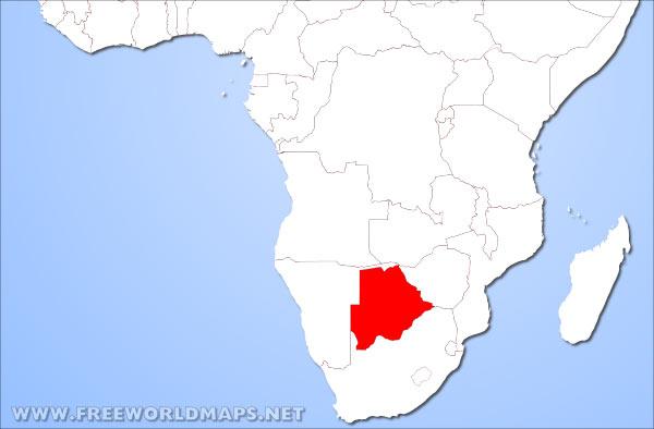 botswana on the world map Where Is Botswana Located On The World Map botswana on the world map