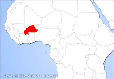 Burkina Faso Physical Map