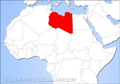 Libya On Africa Map.Libya Physical Map