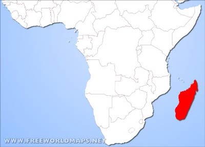 Africa Physical Map Madagascar.Madagascar Physical Map