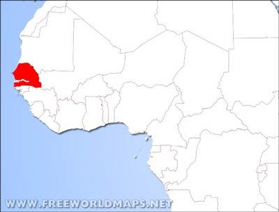 Map Of Africa Senegal.Senegal Physical Map