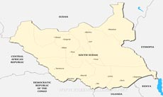 South Sudan Physical Map