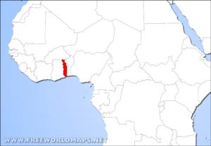 togo location on world map Togo Physical Map