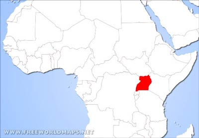 uganda map of africa Uganda Physical Map uganda map of africa