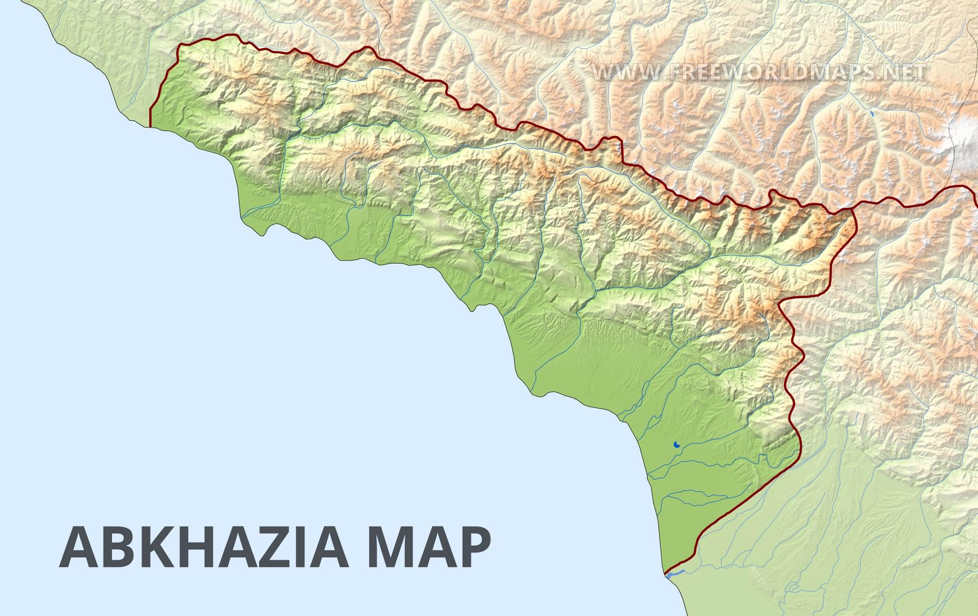 Abkhazia Physical Map
