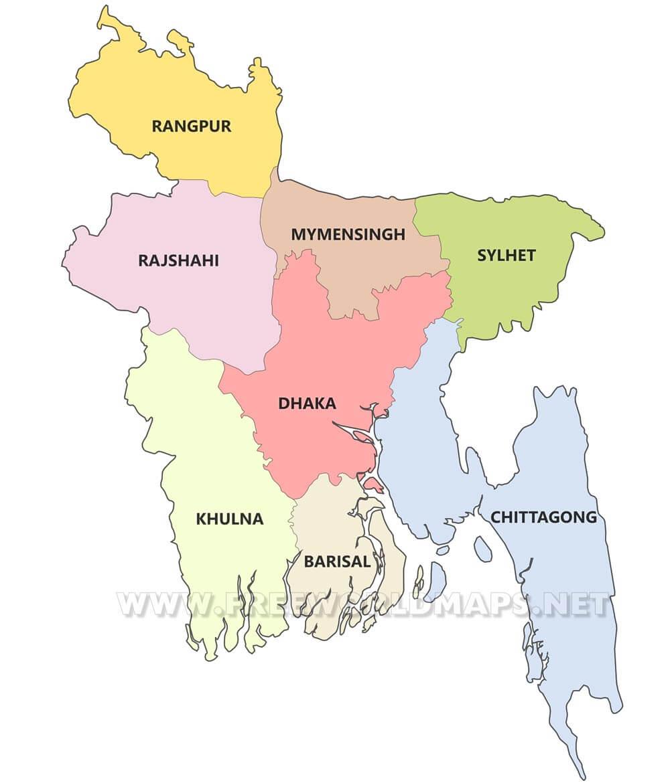 bangladesh map dhaka division Bangladesh Political Map bangladesh map dhaka division