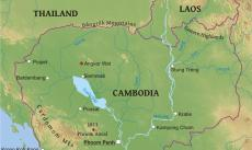 Where is Cambodia located on the World map?