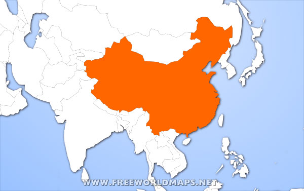 Map Of China In Asia.Where Is China Located On The World Map