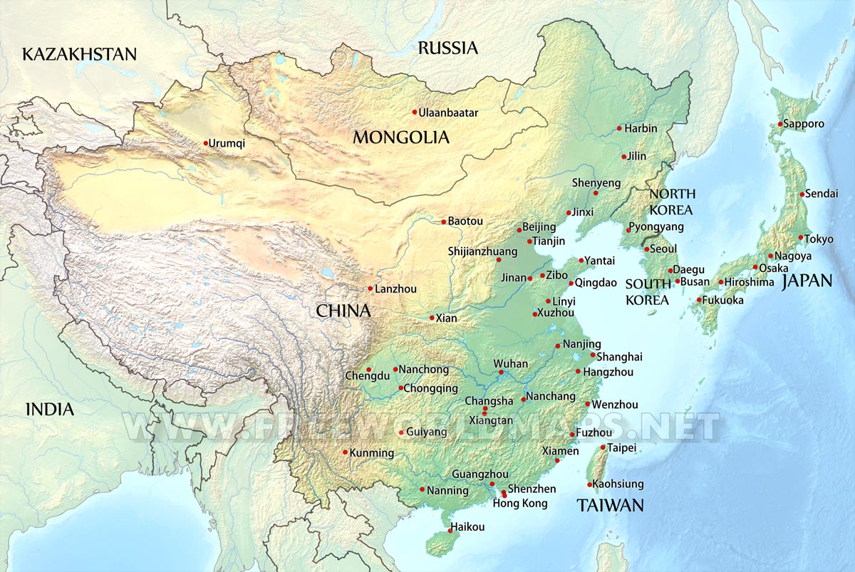 Picture of: East Asia By Freeworldmaps Net