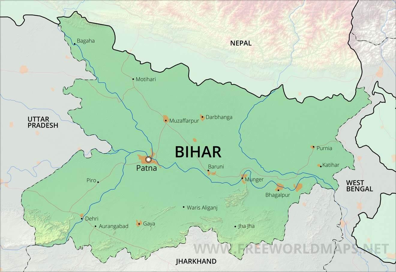 Maps Of Bihar Bihar Maps