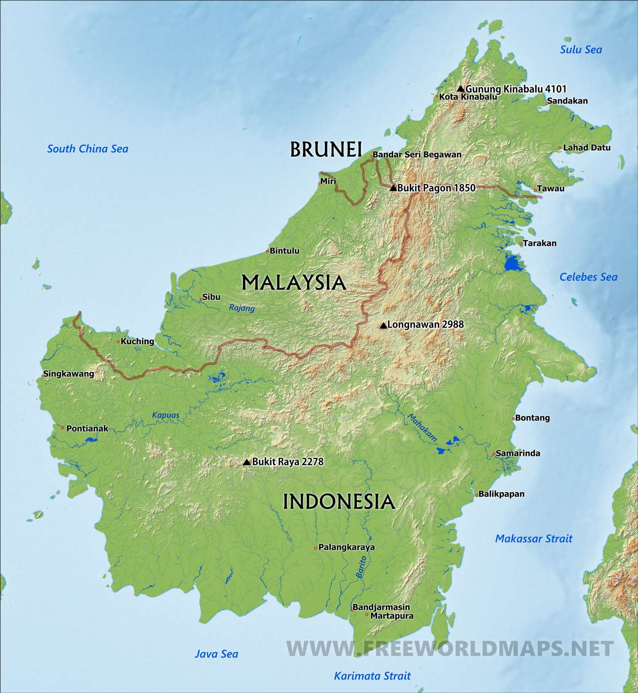 Map Of Borneo Borneo map