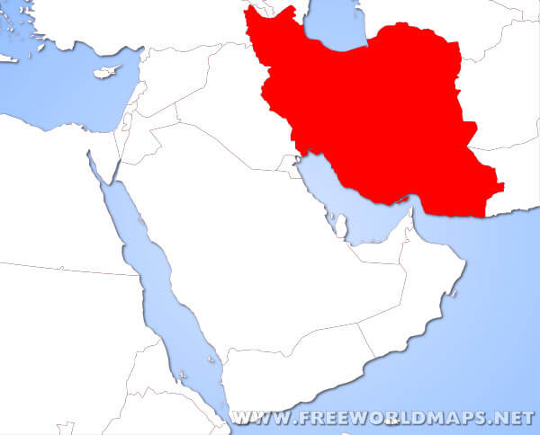 Where is Iran located on the World map?