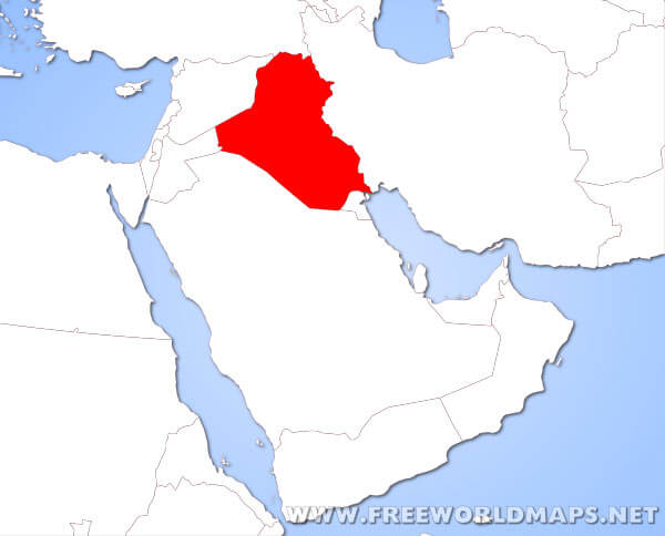 Where is Iraq located on the World map?