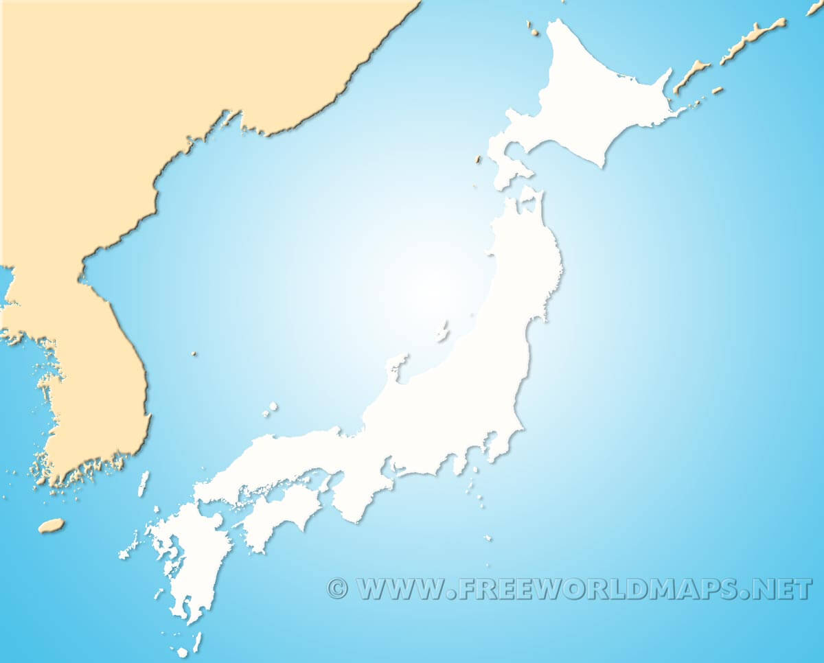 Japan Blank Map By Freeworldmaps Net