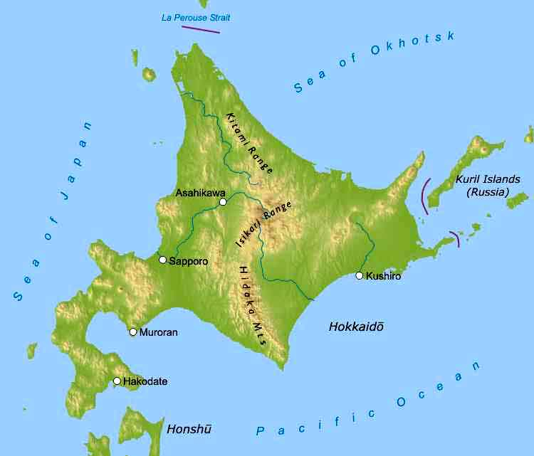 Hokkaido Maps on inuyasha map of japan, anime map of japan, cartoon map of japan,