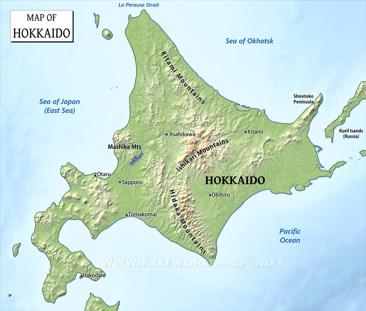 Map Of Hokkaido Island Hokkaido Maps