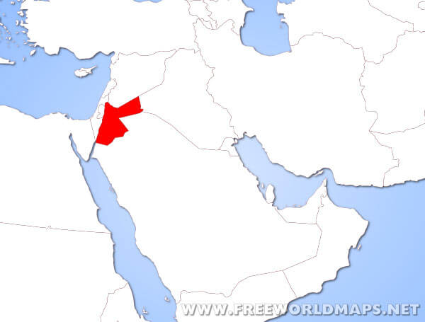 location of jordan on world map