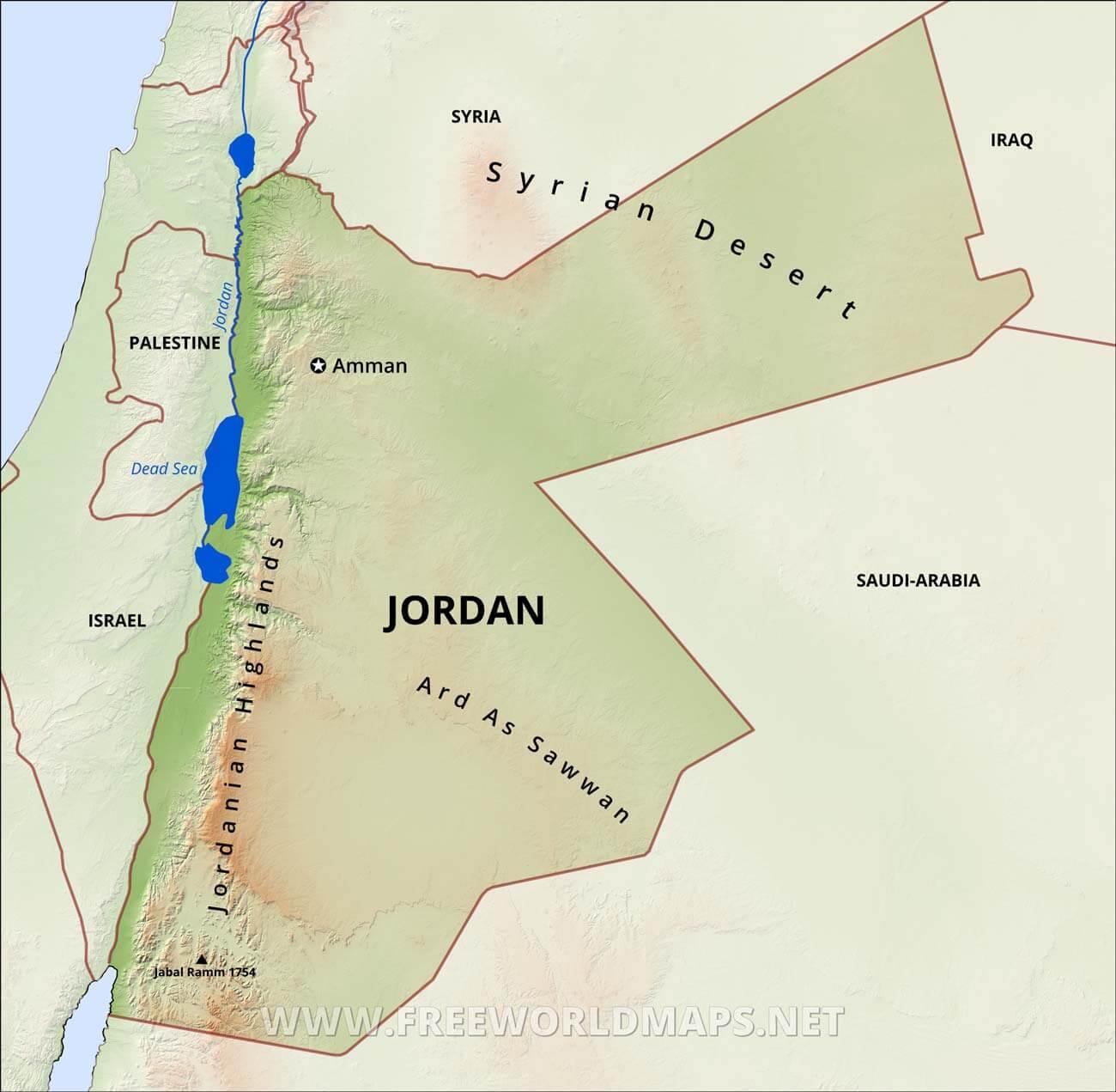 Jordan Physical Map on jordan asia, jordan and israel map, north korea map, middle east map, liberia map, jordan religion map, jordan middle east, jordan river utah map, jordan capital on map, jordan river valley map, jordan location on world map, jordan river on map,