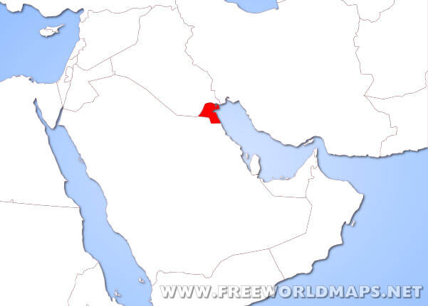 Where is Kuwait located on the World map? on euphrates river on a map, iraq on a map, yemen on a map, turkey on a map, dubai on a map, cyprus on a map, israel on a map, jordan on a map, karachi on a map, lesotho on a map, pakistan on a map, albania on a map, tigris river on a map, bahrain on a map, lebanon on a map, tunisia on a map, dead sea on a map, brunei on a map, djibouti on a map, qatar on a map,