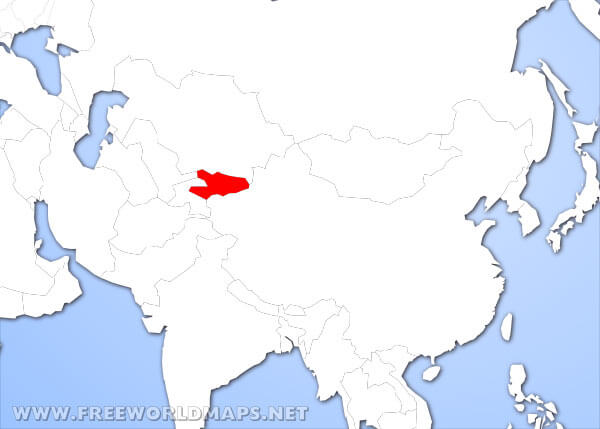 Map Of Asia Kyrgyzstan.Where Is Kyrgyzstan Located On The World Map