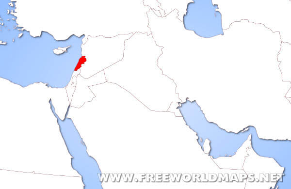 Where Is Lebanon On The Map Where is Lebanon located on the World map?