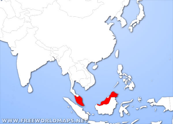 Map Of Asia Malaysia.Where Is Malaysia Located On The World Map