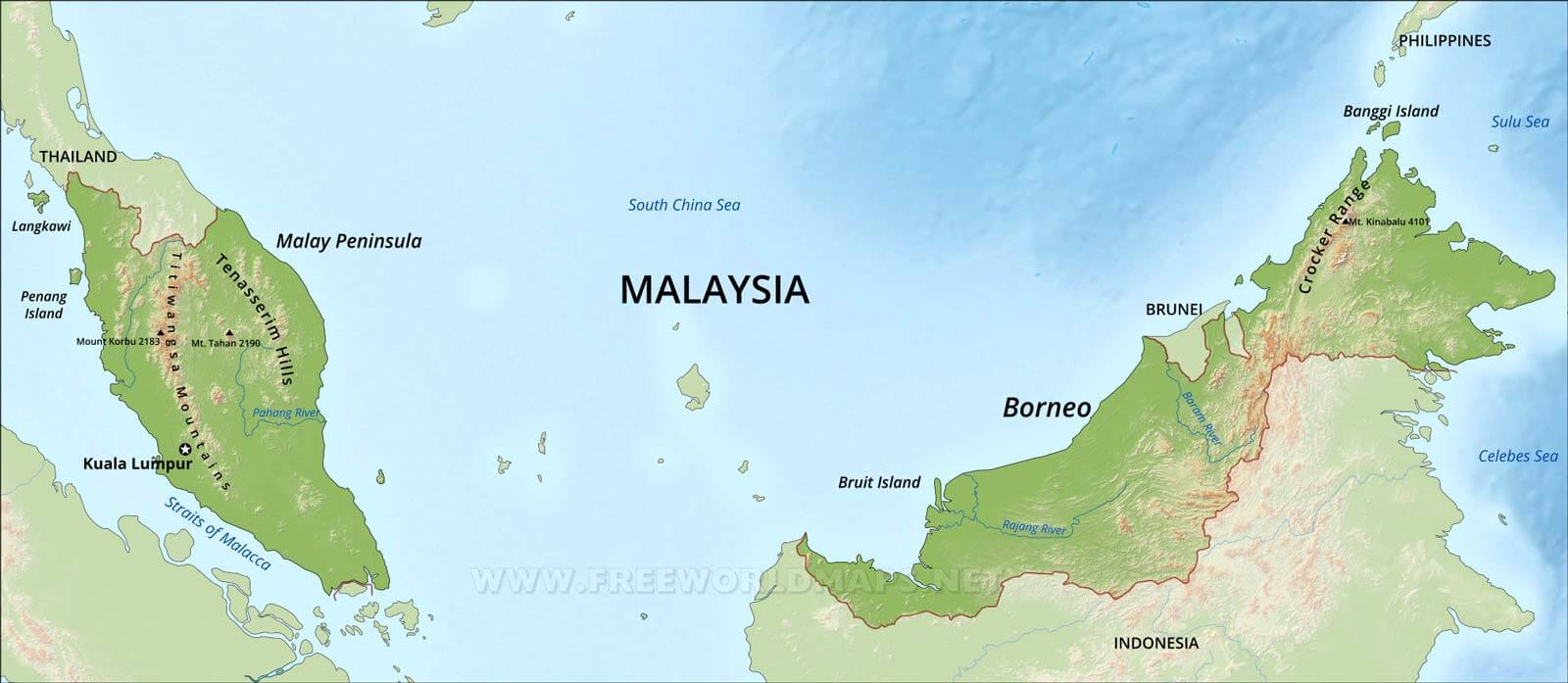 Malaysia physical map gumiabroncs Image collections
