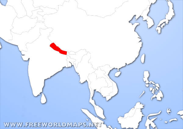 Where is Nepal located on the World map?