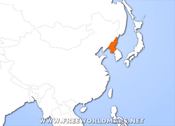 Where is North Korea located on the World map?
