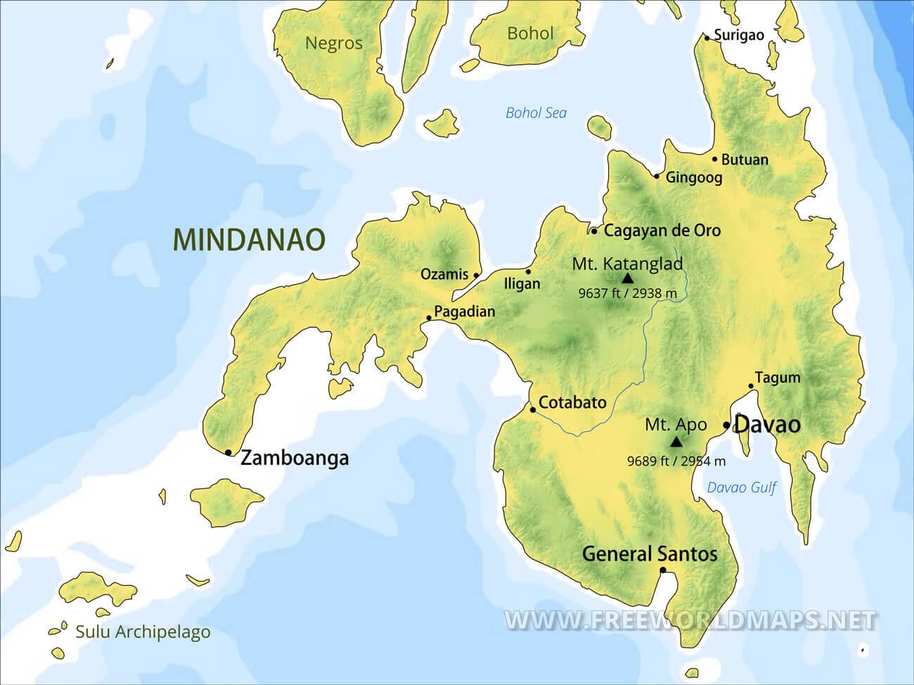 Picture of: Mindanao Maps Philippines