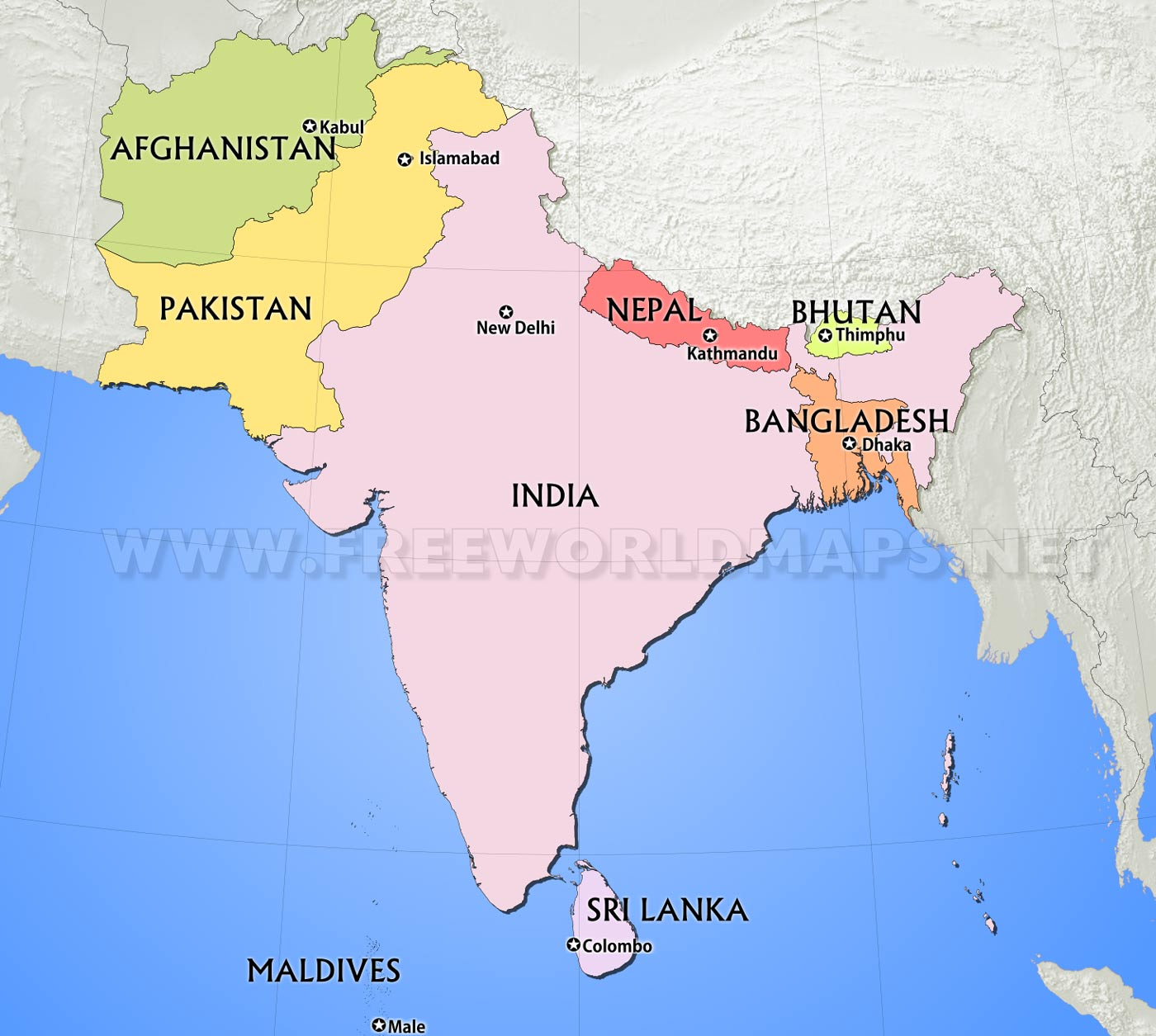 Map Of Asia Full Hd.South Asia Maps
