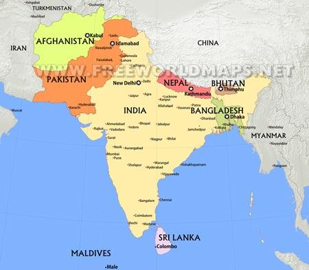 South Asia By Freeworldmaps Net