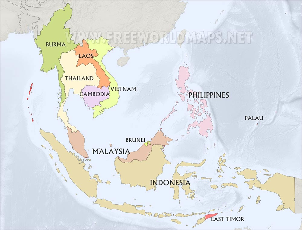 Blank Map Of Southeast Asia To Label.Southeast Asia Maps