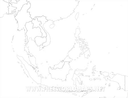 Blank Map Of East And Southeast Asia.Southeast Asia Maps