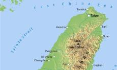 Where is Taiwan located on the World map?