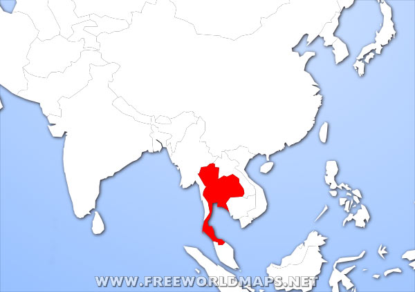 Where is Thailand located on the World map?